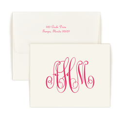 Large Monogram Raised Ink Note - Double Thick